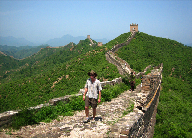 Robin Esrock on the Great Wall of China